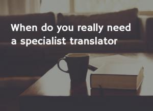 specialist translator
