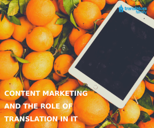 Content marketing and translation